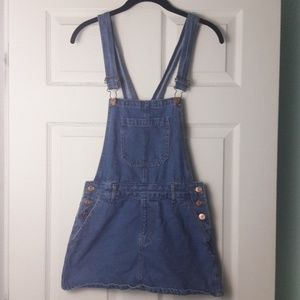 Forever 21 overall denim skirt